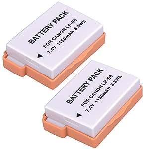 SODIAL(TM) 2 à¡î Batterie au lithium LP-E8 pour Canon EOS Rebel 550D, Rebel T2i