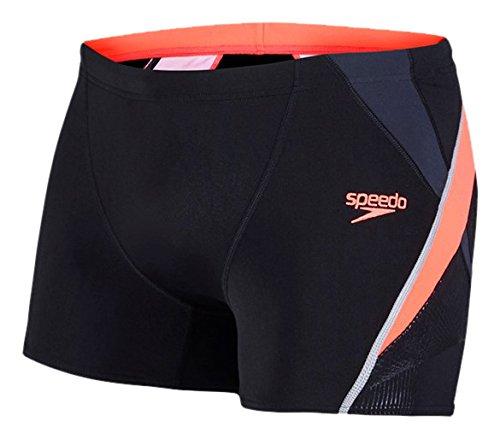 speedo-mens-fit-splice-aquashorts-black-psycho-red-oxid-grey-size-34