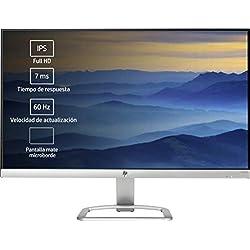 """HP 24ea Monitor, 24"""", Full HD 1920x1080, IPS con Retroilluminazione LED, Altoparlanti Integrati, Argento"""