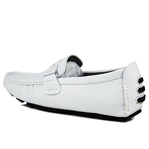 Herren Mokassin überstreifen Driving Mokassins Halbschuhe Schuhe Weiß