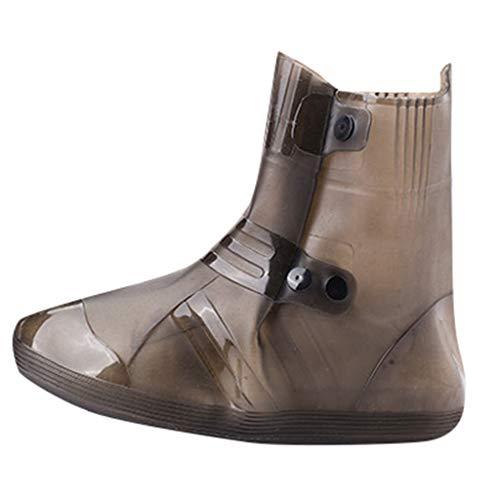 BURFLY Mode Unisex-Schuhe, Sommer Outdoor-Reise-Regenstiefel Regenfest wasserdichte Schuhe Decken Überschuhe Solide Casual Regenstiefel