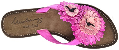 Mustang 3125-801-504, Sandales Bout Ouvert Femme Rose (504 Pink)