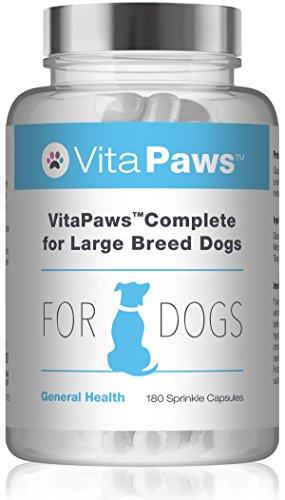 VitaPaws Formula completa per cani di taglia grande - 180 capsule facili da aggiungere al cibo - SimplySupplements