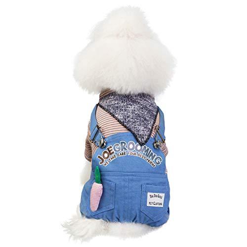 Haustierkleidung Winterbekleidungs Welpen Kostüm Hawkimin Fashion Puppy Haustier Kleidung Katze Hund Warme Neue Overall Heimtierbedarf Kleidung, Vierbeiniger Kleiner Bär Pullover Print Bekleidung (Wasser Bär Kostüm)