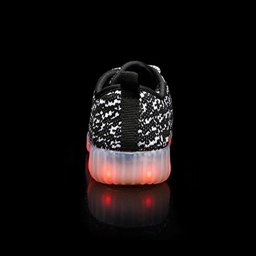 FLARUT LED Chaussures Garçons Filles Chaussures Flashing Chaussures USB Charging Light Up Sneakers Chaussures colorées Glowing Noir