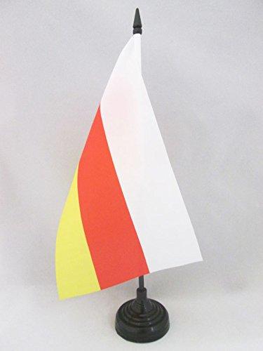TISCHFLAGGE SÜDOSSETIEN 21x14cm - OSSETIEN TISCHFAHNE 14 x 21 cm - flaggen AZ FLAG
