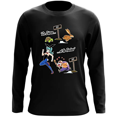 T-Shirts à manches longues Dragon Ball parodique Tortue Géniale Bulma : De La Fontaine à Toriyama. (Parodie Dragon Ball)