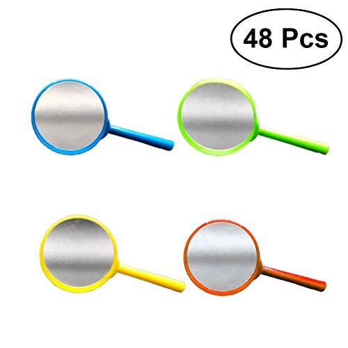 YeahiBaby Set di Mini Lenti d'Ingrandimento per Bambini con Luce per Fare Investigatori Lenti d'Ingrandimento giocattolo - 48pz