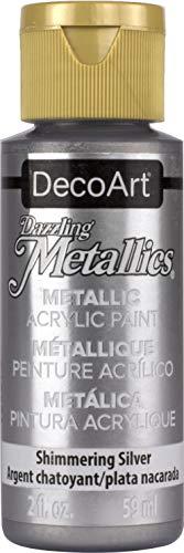 Artdeco DecoArt Americana - Pintura acrílica metálica, color plateado brillante
