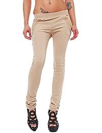 10248 Fashion4Young Damen Treggings Leggings Hose Sporthose verfügbar in 4 Größen 4 Farben