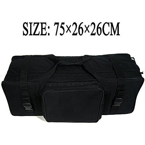 HWAMART ® (acolchado Bolsa) de la cámara del bolso del cojín trípode video Carry Case bolsa de transporte de alta calidad y protege el caso de la mosca ruedas