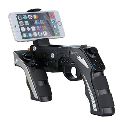 Epega PG-9057 Wireless Bluetooth Gun Game Controller Joystick Gamepad für Handy iPhone 6 6s 6Plus / iPad / iPod Samsung Sony Z5 Huawei Smartphones PC Set-top BOX (Guns Wild)