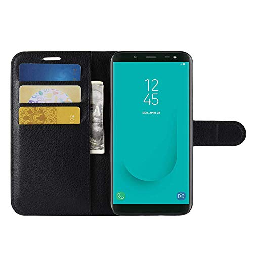 HualuBro Samsung Galaxy S6 Active Hülle, Premium PU Leder Leather Wallet HandyHülle Tasche Schutzhülle Flip Case Cover für Samsung Galaxy S6 Active Smartphone (Schwarz)