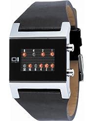 Binary THE ONE KERALA TRANCE KTL102R1 - Reloj digital de mujer de cuarzo con correa de piel negra