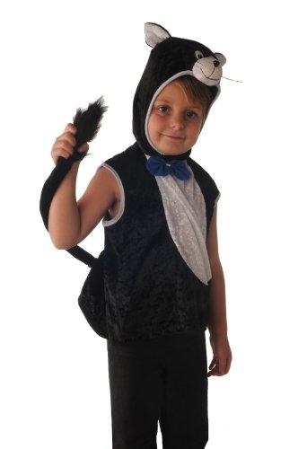 Imagen de disfraz gato blanco y negro para niño de 3 a 4 años