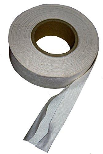 1 lfdm vorgefalztes Schrägband 100% Seide Dupion naturweiß ungefärbt matte Oberfläche 15/30/15mm (Seiden SchrÄgband)