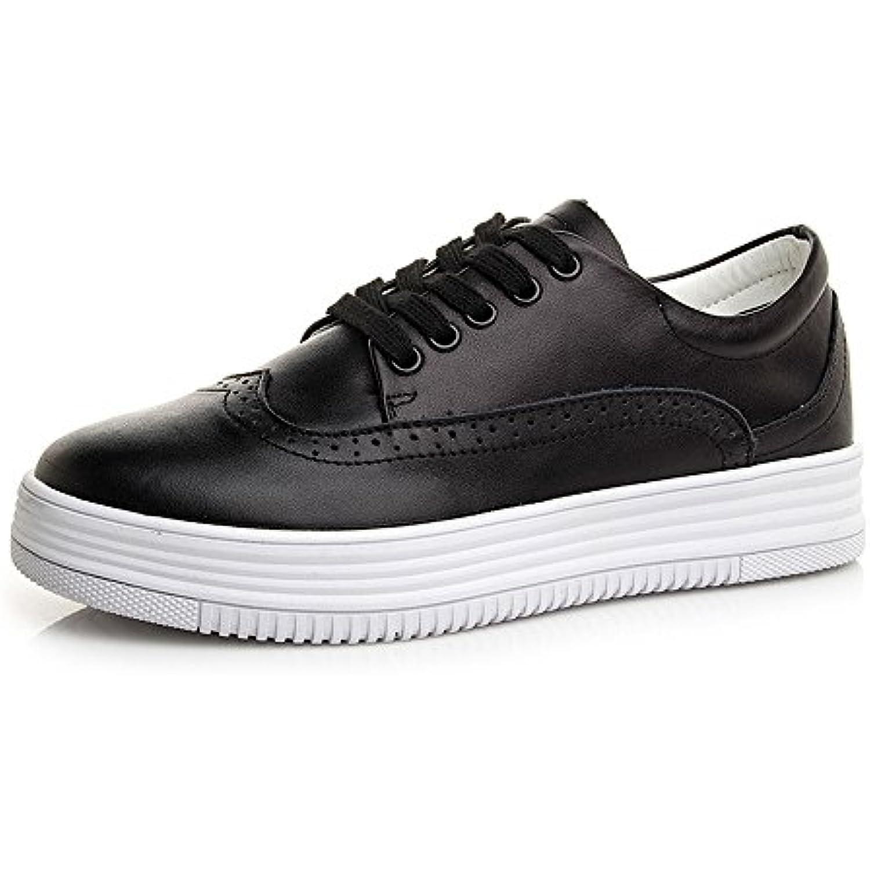 Chaussures HAIZHEN Dames Filles Bottillons Baskets pour pour pour femmes Printemps Et eacute; Automne Hiver Confort PU - B076Q9NCVK - 541498