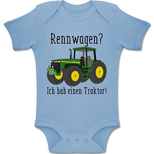 Shirtracer Fahrzeuge Baby - Rennwagen? Traktor! - 3-6 Monate - Babyblau - BZ10 - Baby Body Kurzarm Jungen Mädchen (John Deere Für Baby Mädchen)