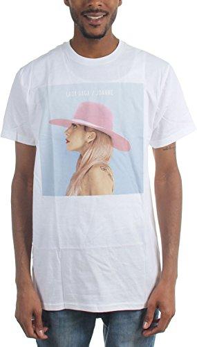 Lady Gaga Männer Joanne Album Cover T-Shirt, Large, White