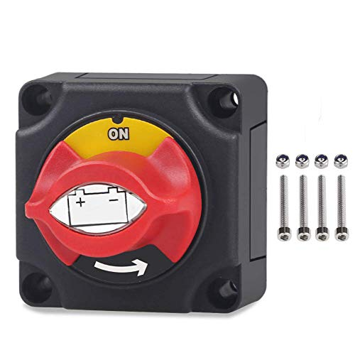 DC12-48V Batterietrennschalter Marine Battery Cut/Shut Off Schalter 275/1250 Amp für Schiff Boot Kleine Yacht RV Camper Truck Auto (Truck Camper Klemmen)
