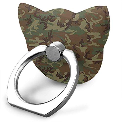 Nicegift Woodland Universal Camo Metal Ring Stand Universal Applied Mobile Phone Stand 360 Degree Rotate -