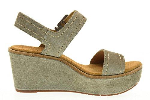 CLARKS scarpe donna sandali zeppa 26124071 AISLEY ORCHID GRIGIO Grigio
