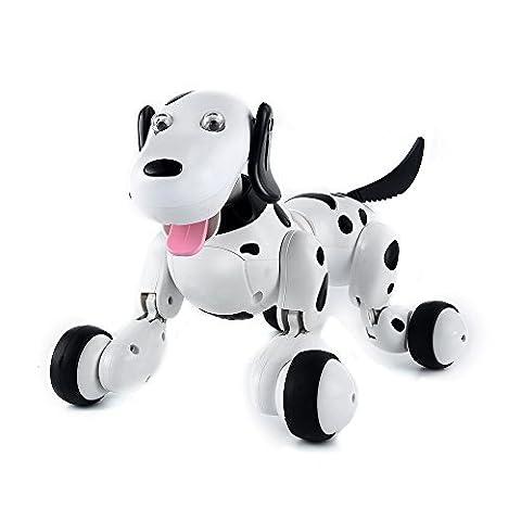 SainSmart Jr. Elektro RC Intelligenter Hund, Wireless Interactive Welpe, Kinderspielzeug Tanzen-Roboter-Haustier, (Aktion Welpen)