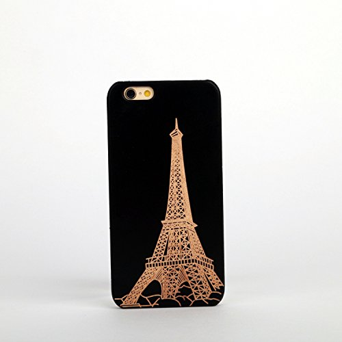 New Creative Wooden & PC hard case for Apple iPhone 7 EIFFEL TOWER EIFFLE TOWER