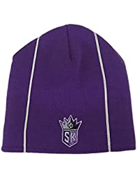 Reebok Men's NBA Hat Sacramento Kings Purple Cuffless Headwear Beanie