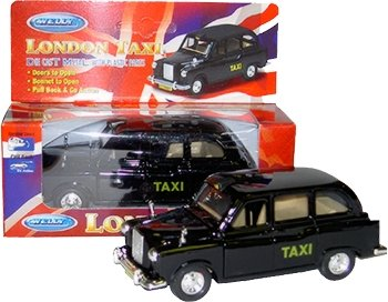 Souvenir de collection - Die Cast London Modèle Black Taxi Pull Back & Action [Jouet]