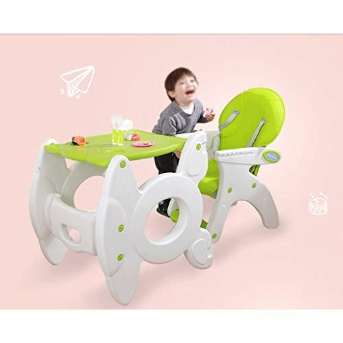 Imagen para ZXCVB Silla de Comedor de niños de múltiples Funciones, Portable de bebé Silla de Comedor, bebé Que Cena la Silla con Ruedas, Ajustable de 5 Puntos del cinturón de Seguridad