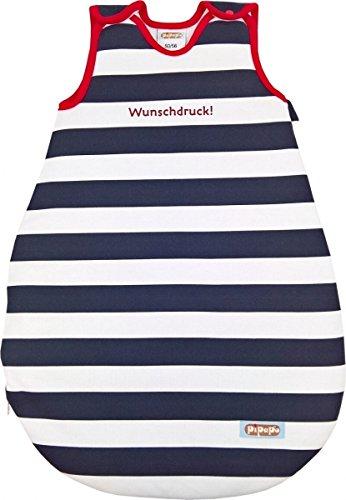 Babyschlafsack / Ganzjahresschlafsack mit Namen, personalisiert bedruckt! - Größe wählbar von Neugeborene 0-24 Monate - Aus eigener regionalen Produktion - Unisex für Jungen und Mädchen Größe 74/80