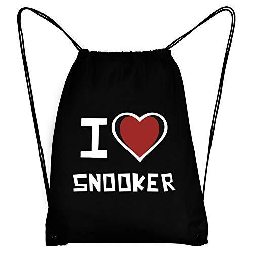 Teeburon I Love Snooker Bicolor Heart Turnbeutel 18