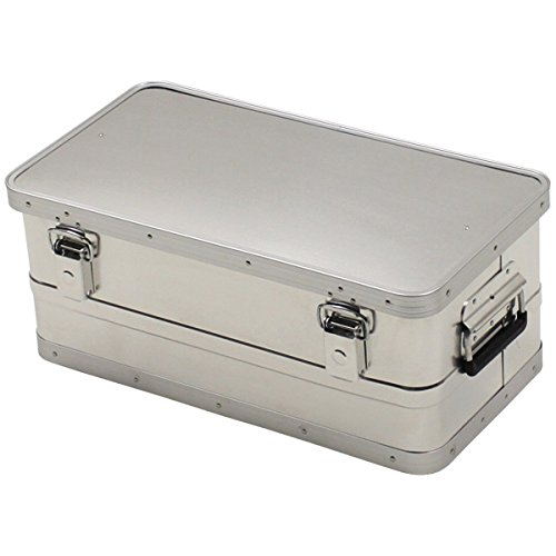 MFH wasserdichte Transportkiste Aluminiumkiste Werkzeugkuste Box Alubox Kiste (34 Liter)