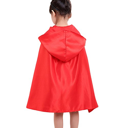 Ears Toddler Halloween Kleidung Kids Baby GirlsKleinkind Kinder Baby Mädchen Halloween Kleidung Kostüm Kleid Party Kleider + Mantel (140, Rot)