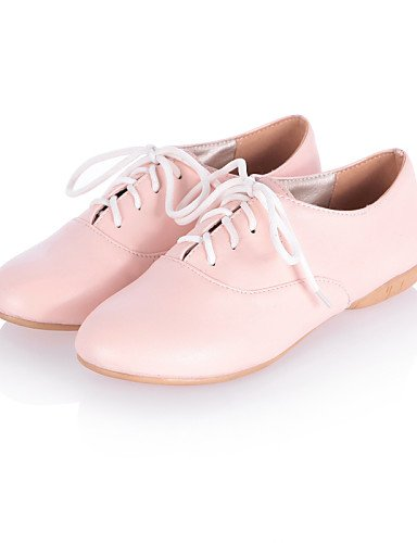 ZQ Scarpe Donna - Stringate - Formale / Casual - Comoda / Punta arrotondata - Piatto - Finta pelle - Nero / Rosa / Bianco , pink-us8 / eu39 / uk6 / cn39 , pink-us8 / eu39 / uk6 / cn39 black-us5.5 / eu36 / uk3.5 / cn35