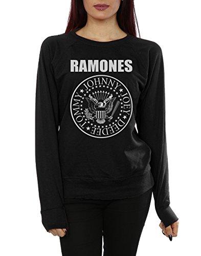 Ramones Damen Presidential Seal Sweatshirt Schwarz