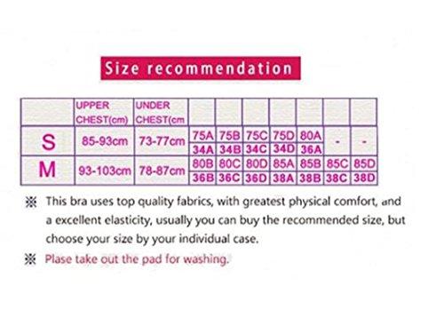 Vertvie Femme Lot de 3 Soutien-gorge de Sport Push Up sans Armature Lingerie Bra pour Fitness Jogging Yoga Gris+Violet+Fuchsia