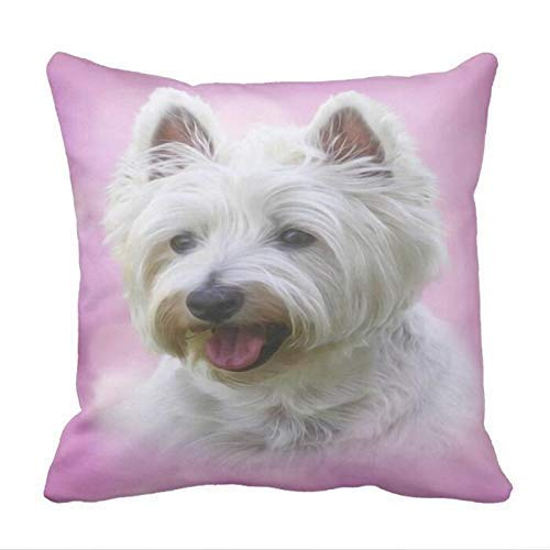 KJDFH Pillow Case,West Highland White Terrier Father Throw Pillow case