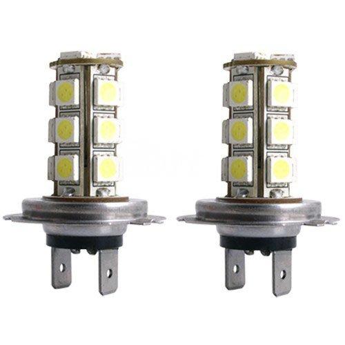 Sedeta 2 Stück 18SMD 5050 Auto H7 LED Xenon Weiß Autoscheinwerfer DC12V Nebel Tag Licht Lampe