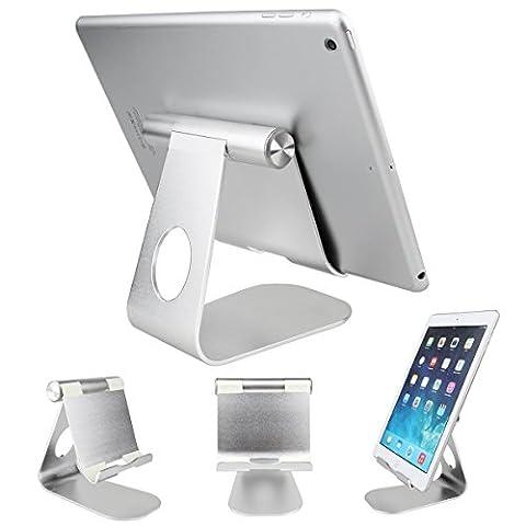 Tablet-Halter ,SOONHUA 360 ° drehbarer Aluminiumlegierung-Tischplattenhalter-Tablet Ständer für iPad Pro iPad 6/4/3/2/1 Ipad Air 2 Ipad Mini und anderen Tablet