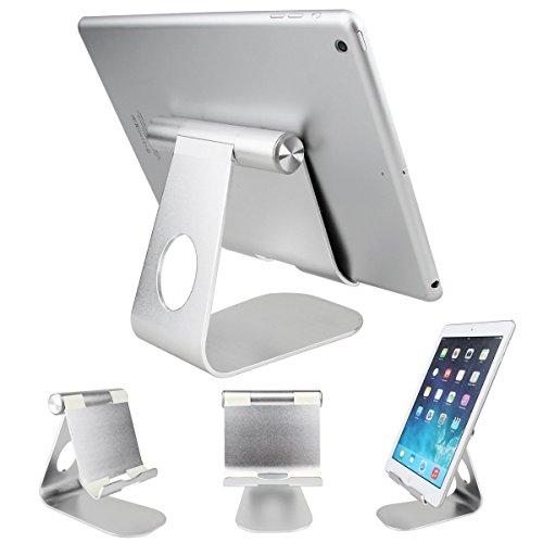 Tablet-Halter SOONHUA 360 ° drehbarer Aluminiumlegierung-Tischplattenhalter-Tablet Ständer für iPad Pro iPad 6/4/3/2/1 Ipad Air 2 Ipad Mini und anderen Tablet