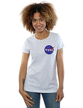 Nasa Mujer Classic Insignia Pocket Logo Camiseta