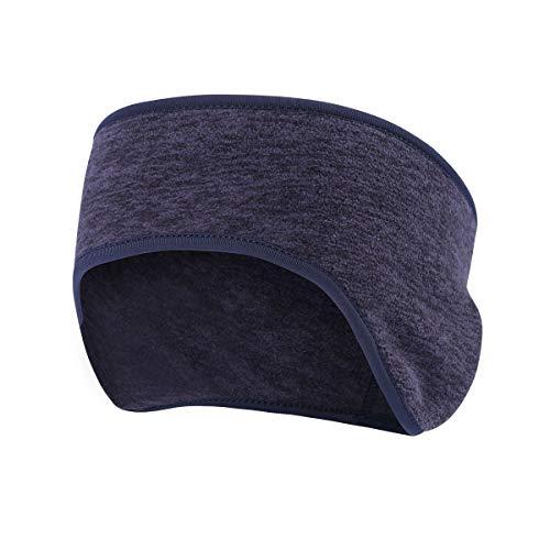 Tofern 2 Stücke Stirnband Schweißband Kopf mit Ohrenschutz warm Laufen Radsport Wandern Winter, Dunkelblau