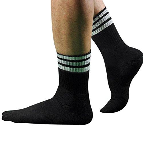 Tonsee® Hommes Sport Football Soccer Short Sock Baseball Hockey (Noir)
