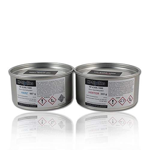 Epoxid-Harz-Spachtel 1kg | Hervorragende Haftung auf zahlreichen Untergründen | Lösemittelfreie Zwei-Komponenten Epoxy Spachtelmasse aus Harz und Härter | HP-E30S