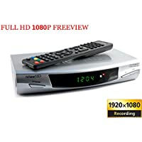 New FULL HD 1080P Freeview Digital TV Receiver & USB HD Recorder Tuner Set Top HD DigiBox Terrestrial + USB and SD Slot TV Schedule Program Recorder + MP4 MKV H.264 Multi Media Video & Photo Player For UK Switchover Converter High Definition Box with HDMI and SCART OUT DVB-T