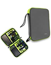 Gizga Essentials Gadget Organizer Case, Portable Zippered Pouch For All Small Gadgets, HDD, Power Bank, USB Cables, Power Adapters, etc (Gray)