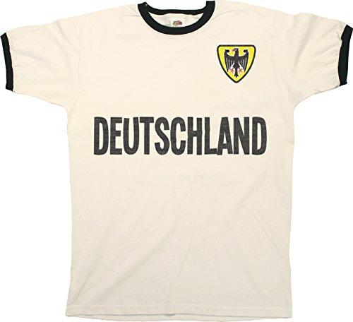 Buzz Shirts Mens Ringer T-Shirt Camiseta para Hombre Retro Country Name Football  Patriotic   8ae5ebcba