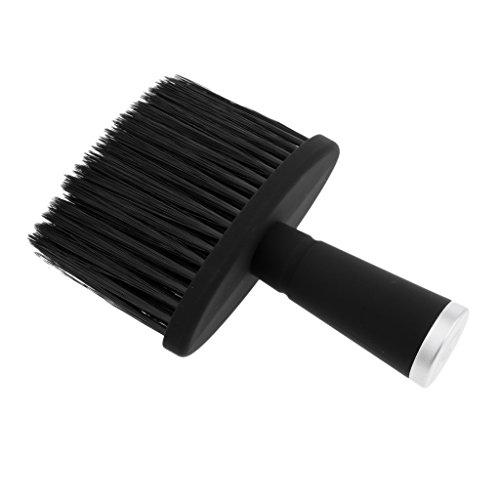 B Blesiya Suave Cuello Cepillo Plumero Pincel de Cuello Limpieza Brocha de Peluquería Limpiador de Cuello - Plata